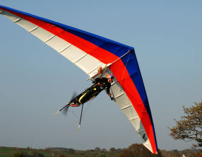 Powered hang glider (Courtesy Gary Shaw)