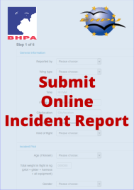 Submit and incident report to the BHPA